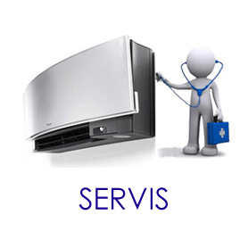SERVIS klimatizácie - split