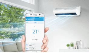 ovládanie klimatizácie mobilom, cez wifi
