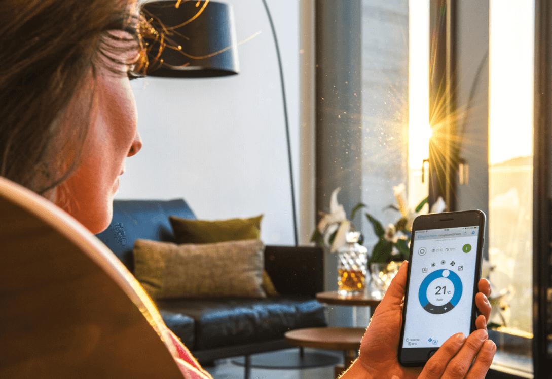 klimatizácia s wi-fi, ovládanie klimatizácie s mobilom