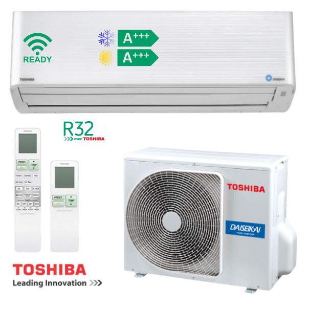 Toshiba Super Daiseikai 9 2,5kW RAS-10PKVPG-E + RAS-10PAVPG-E
