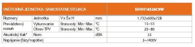 DAIKIN ALTHERMA ERLQ016CV3 + EHVH16S26C9W vnútorná jednotka